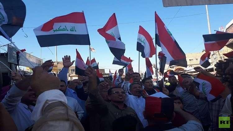 تظاهرات في النجف تطالب باستقالة الحكومة العراقية