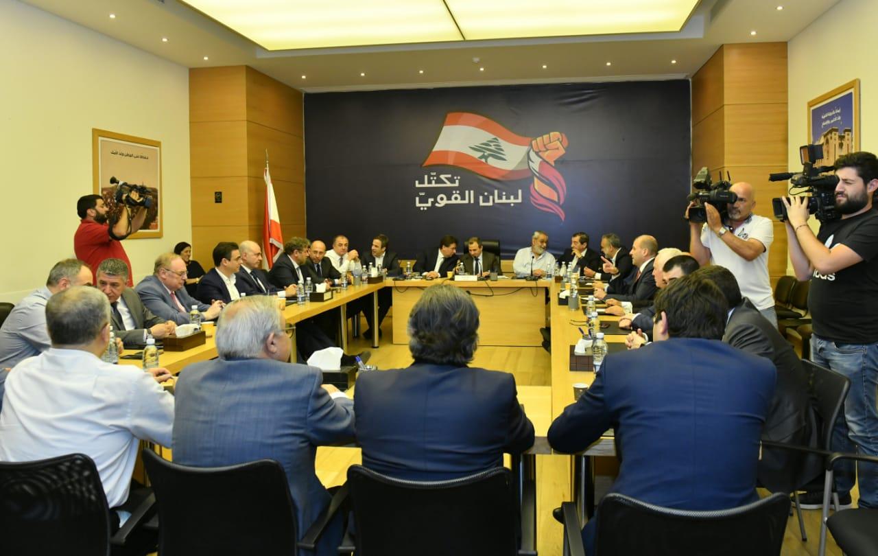 لبنان القوي: لاعتماد معايير مشتركة بتشكيل الحكومة على أساس الانتخابات