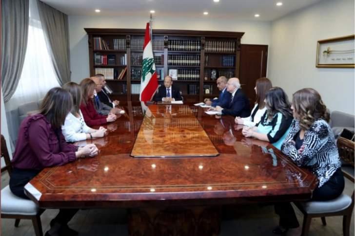 الرئيس عون: آمل في أن تشكل الحكومة سريعاً لمواجهة التحديات الاقتصادية