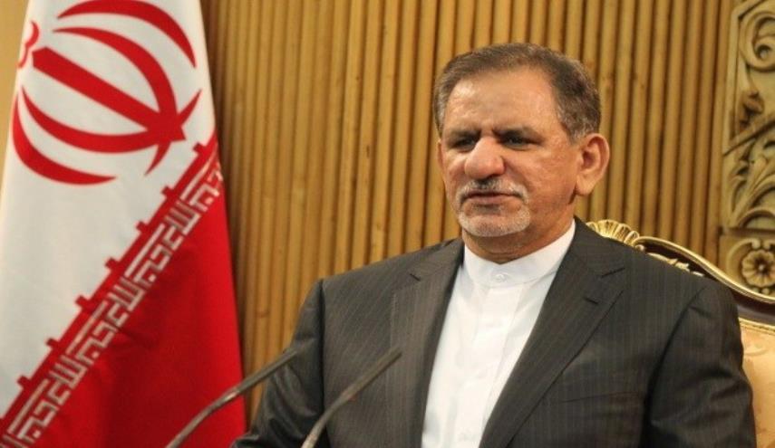 نائب روحاني: سنتغلّب على العقوبات الأمريكية بالإعتماد على قدرات الإنتاج المحلي