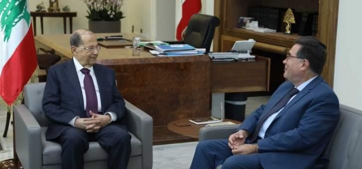 الرئيس عون اكد ضرورة حصول تواصل رسمي بين لبنان وسوريا