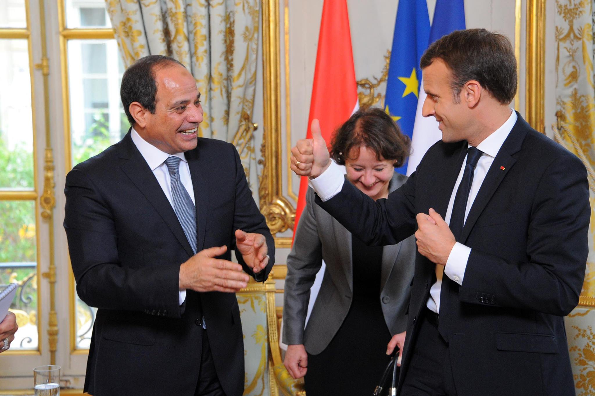 ماكرون من القاهرة: لا تطبيع مع دمشق