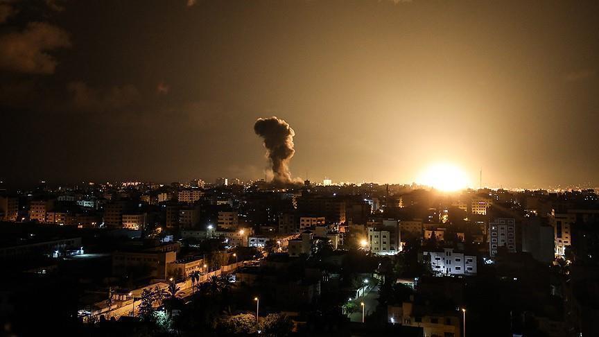 """غارات اسرائيلية على موقع لـ """"كتائب القسام""""  شمالي قطاع غزة"""