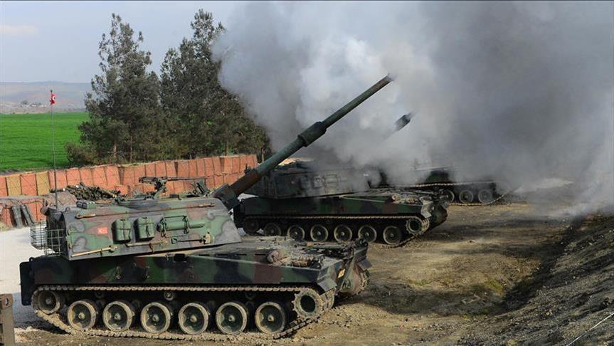 الجيش التركي يستهدف مواقع للأكراد شمالي سوريا