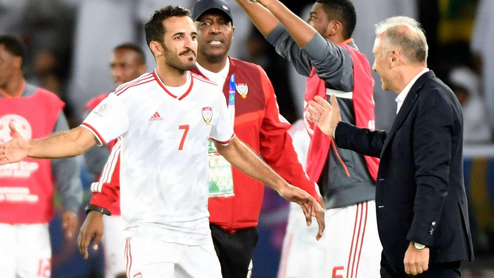 كأس آسيا- الإمارات وتايلاند الى الدور القادم والبحرين تحافظ على آمالها